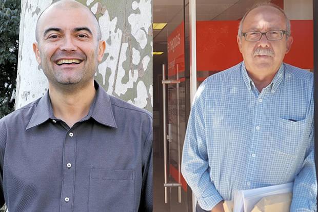 De izquierda a derecha, Antoni Fornés, Doctor en Filosofía, y Jesús Vila, periodista y escritor