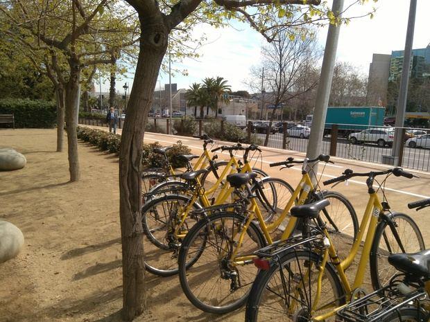 Carril bici inaugurado por el AMB entre Esplugues y Barcelona.