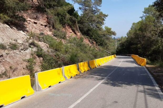 Cierra por obras la pista entre Torrelles y Begues seriamente afectada por el temporal Gloria