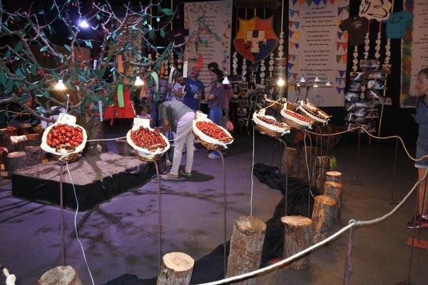 Exposición de cerezas durante la edición del año pasado.