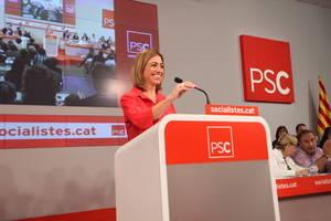 Chacón fue la líder del PSC por Barcelona en las elecciones Generales del 20 de diciembre
