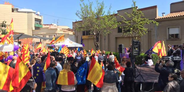 Societat Civil Catalana reivindica a Sant Vicenç dels Horts el respecte als símbols constitucionals