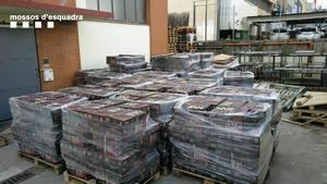 Cocaina incautada en una empresa de Sant Boi
