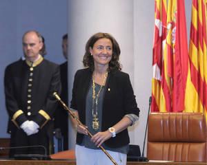 Mercè Conesa, presidenta de la Diputació de Barcelona durant la seva investidura | Arxiu