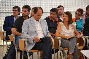 Imagen de archivo del president comarcal, Josep Perpinyà, en el día de su investidura