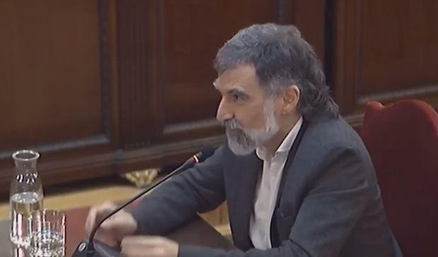 Jordi Cuixart declara en el juicio del 'procés'.