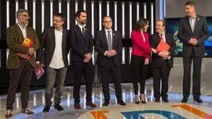 Riera, Doménech, Torrent, Turull, Arrimadas, Iceta y Albiol debaten en RTVE