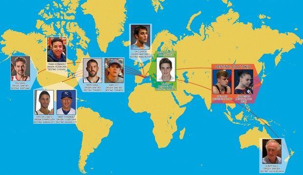 Algunos de nuestros deportistas que han triunfado, triunfan o triunfarán por el mundo.