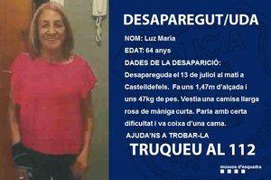 Encuentran sana y salva a la mujer de 64 años desaparecida en Castelldefels