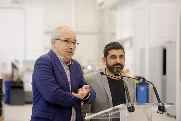 Bargalló y El Homrani durante su visita al centro de Martorell.