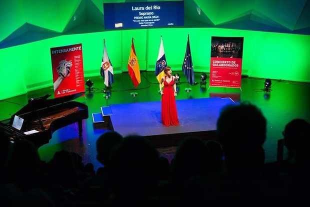Laura del Río, el pasado mes de julio en el concierto de galardonados del Auditorio de Tenerife.