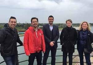 El Comit� Ol�mpic Hongar�s visita el Canal Ol�mpic