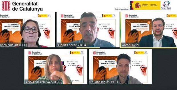 El Govern presenta un vídeo formatiu sobre la violència sexual a l'esport