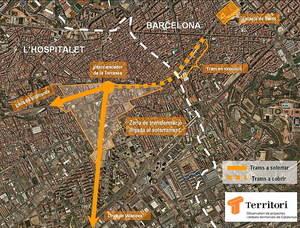 L'intercanviador de La Torrassa, en el calaix de l'oblit