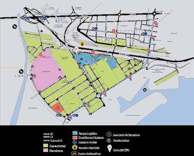 Los polígonos de la Zona Franca y Mas Blau, más accesibles en transporte público