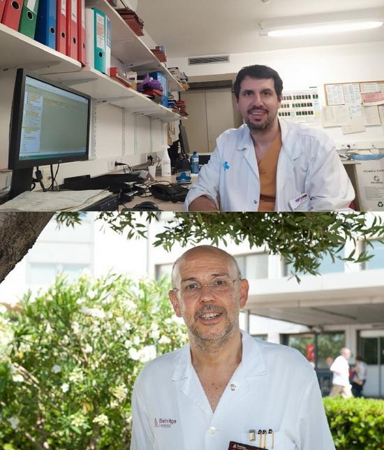 EL DOCTOR XAVIER SOLANICH (ARRIBA) Y EL DOCTOR RAFAEL MAÑEZ (ABAJO)