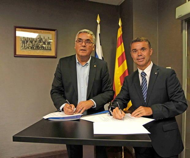 Acord de col·laboració entre el Canal Olímpic de Catalunya i el RCD Espanyol