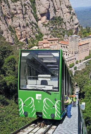 FGC renova el funicular de Sant Joan de Montserrat
