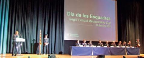 Els santboians Lluís Parés i Ramón Codina reconeguts al Dia de les Esquadres de Mossos