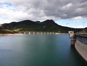 Embalse del río Llobregat en Baells al 72% de su capacidad