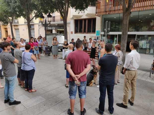 Concentración de homenaje en Esparreguera.