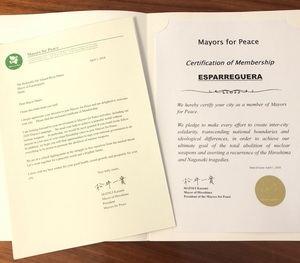 Esparreguera se suma a la red mundial de Alcaldes por la Paz