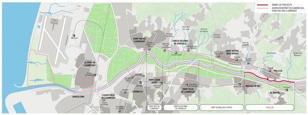 Pallejà pone en marcha la recuperación socioambiental del camino del rio Llobregat