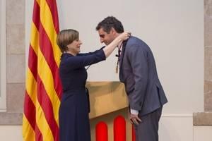 L�investigador santboi� Manel Esteller rep la Medalla d�Honor d�Or del Parlament de Catalunya