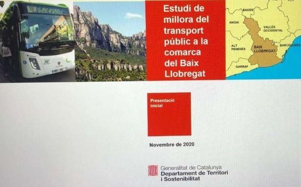 Estudio para mejorar las conexiones con transporte público entre los municipios del Baix