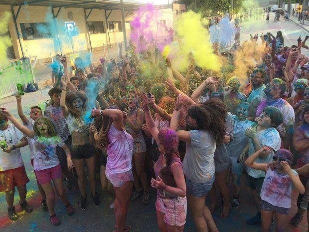La Fiesta Holi tendrá lugar el domingo.