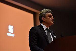 El Presidente de SEAT ayer en el Círculo Financiero de Barcelona.