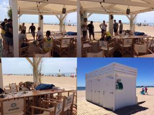 Las playas de Castelldefels se equipan con desfibriladores en sus chiringuitos