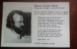 Família i amics han volgut acomiadar Ramon Comas amb un poema de Miquel Martí i Pol.