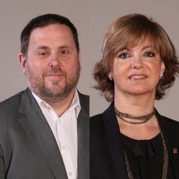 Oriol Junqueras y Meritxell Borràs, los dos políticos de la comarca condenados este lunes en el 'juicio del procés'