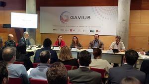 Presentación del proyecto europeo Gavius en la sala de plenos del Ayuntamiento de Gavà este viernes