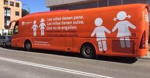 Imagen del bus de la nueva campaña de 'Hazte Oír'