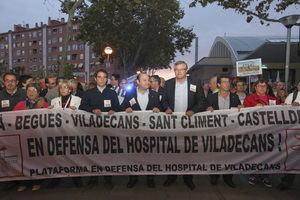 Manifestación del 31 de octubre del 2013 en defensa del Hospital.