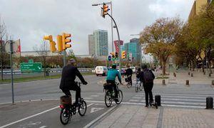 L'Hospitalet implanta una red básica pedalable para fomentar la movilidad sostenible y frenar contagios