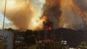 Detenido el vecino que presuntamente provocó el incendio forestal de Castellví de Rosanes