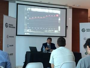 Raúl Díaz-Varela, vicepresidente de Grupo Indukern, en la última presentación de resultados