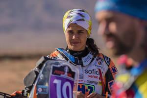 La corberense Laia Sanz socorre, por tercera vez, al francés Pierre Alexandre Renet
