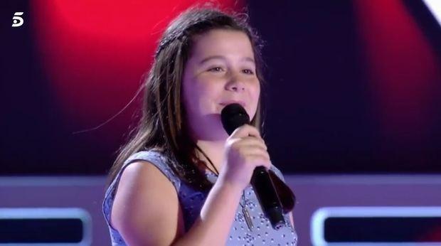 La santboiana Laura, de 11 años, deslumbra en el estreno de 'La Voz Kids'