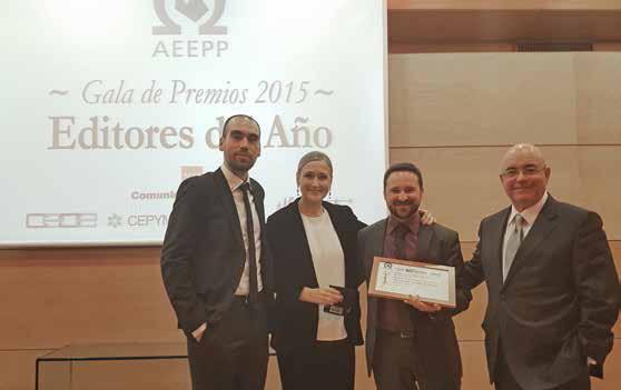 La asociación española de editores AEEPP premia a El Llobregat como mejor publicación gratuita 2015