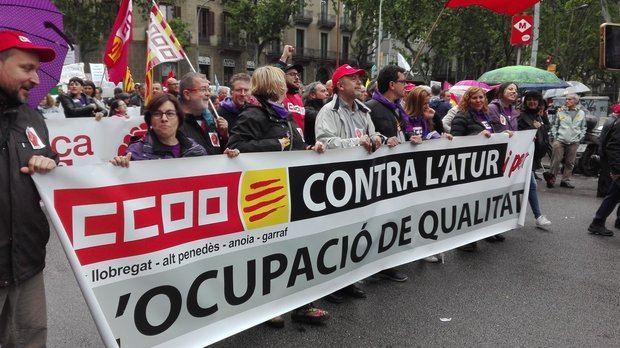 Las manifestaciones del 1 de mayo de este año han sido monopolizadas por las pensiones, la sentencia del caso de 'La Manada' y por el proceso independentista