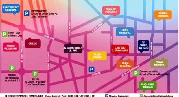 Mapa con los principales escenarios de Al Carrer'18.