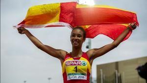 La hospitalense María Vicente logra el récord del mundo de heptatlón y se proclama campeona de Europa