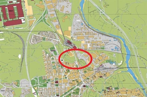Zona de Martorell donde se realizarán los trabajos.