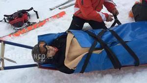 Momento de la evacuación de Mercedes Milà | Imagen de Telecinco-Mediaset
