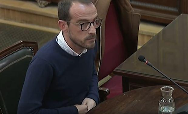 Jaume Mestre, el responsable de Difusión Institucional de la Generalitat, declara como testigo.