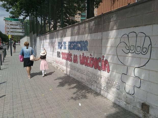 Muro del Colegio Josep Janés de L'Hospitalet